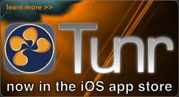 Tunr visual iOS music player