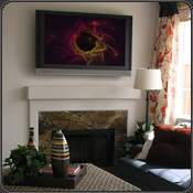 whitecap groovy visuals on flat screen display add to the hip decor