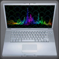 whitecap music visualizer on plasma screen